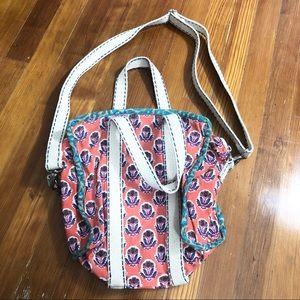 Anthropologie crossbody canvas purse bag